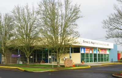 Bonnie Hays Small Animal Shelter in Hillsboro, Oregon. Creative Commons: https://commons.wikimedia.org/wiki/File:Bonnie_Hays_Small_Animal_Shelter_-_Hillsboro,_Oregon.JPG