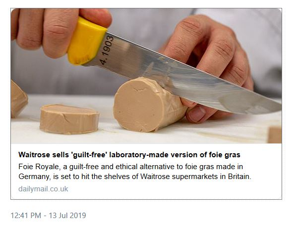 waitrose lab foie gras